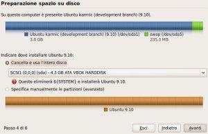 partizionamento ubuntu 9.10