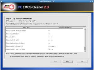 PC CMOS Cleaner rimuovere password bios