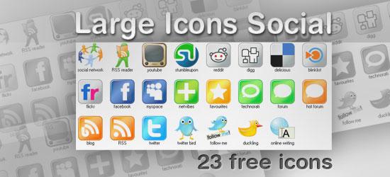 Set gratuito di icone social in alta risoluzione