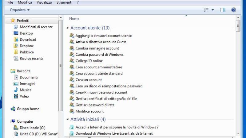 Windows 7 e la Modalità God Mode per Configurare Tutto