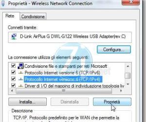 proprietà tcp ipv4 connessione