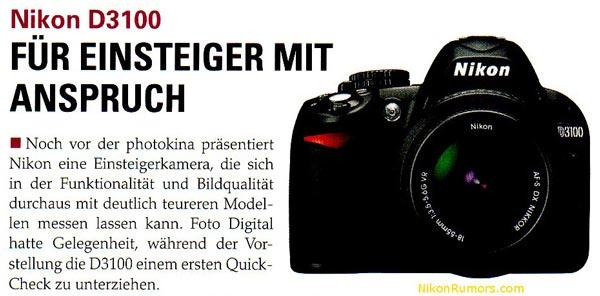 Reflex Nikon D3100 e quattro nuove lenti