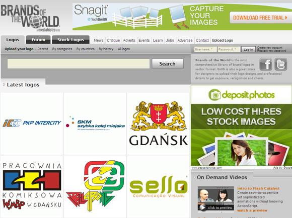 Brands of the world immagini vettoriali