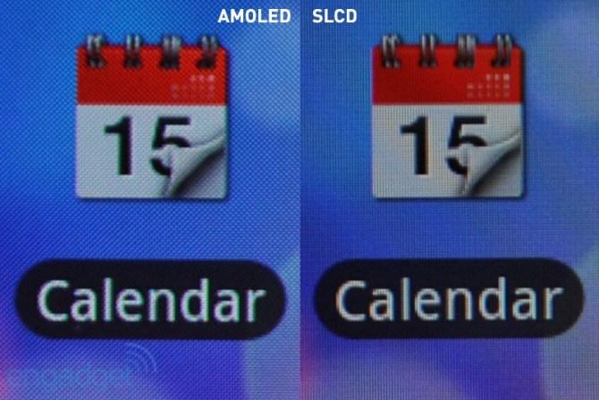 finezza dei pixel: confronto di un particolare visualizzato su display AMOLED e S-LCD