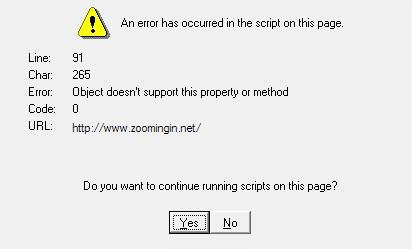 errore nell'esecuzione degli script IE5.5