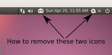 Come rimuovere le icone chat e mail (indicator) dal pannello di Ubuntu