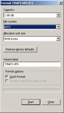 come formattare Hard disk USB 2