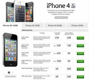 offerta vodafone iphone 4s