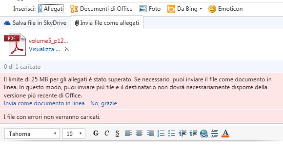 Inviare File di Grandi Dimensioni via e-mail