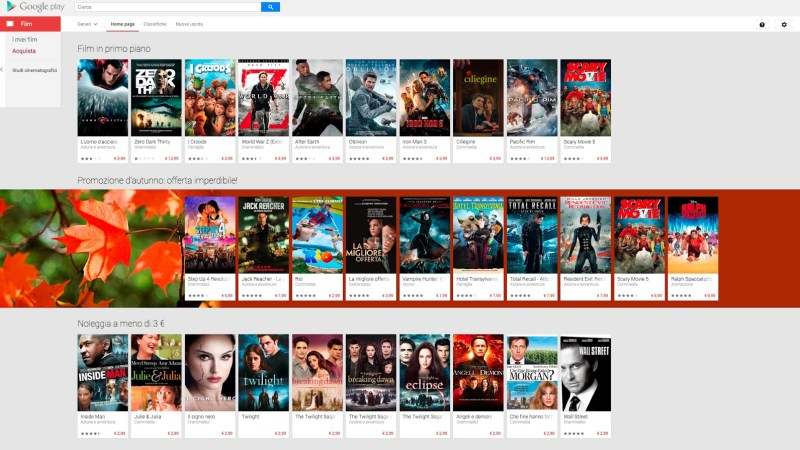 Google Play Movies Arriva in Italia