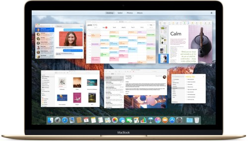 mission control Apple OS X El Capitan