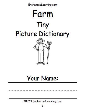 Farm Animals Beginning Readers Books: EnchantedLearning.com