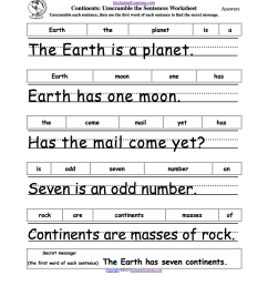 Unscramble the Sentences Worksheets - EnchantedLearning.com [ 1649 x 1275 Pixel ]