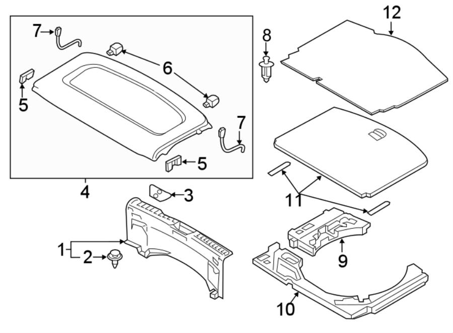 Mazda CX-3 Spare Tire Compartment Cover. Speaker, Audio