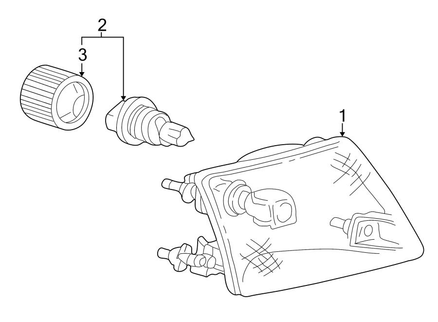 2000 Mazda B2500 Headlight Socket (Lower). B-Series Pick