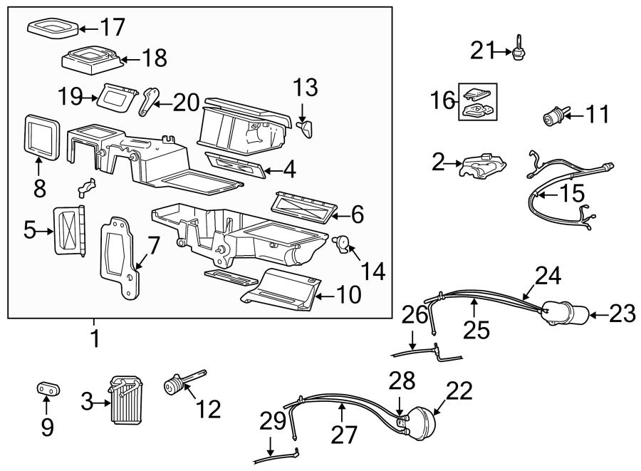 2001 Mazda B3000 A/c evaporator core vacuum reservoir