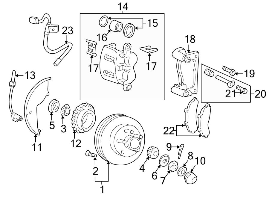 Mazda B2500 Abs wheel speed sensor (front). Suspension