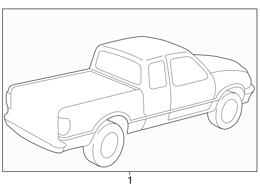 Mazda B2500 Trim Stripe Tape. TYPE 3, cab plus, prairie