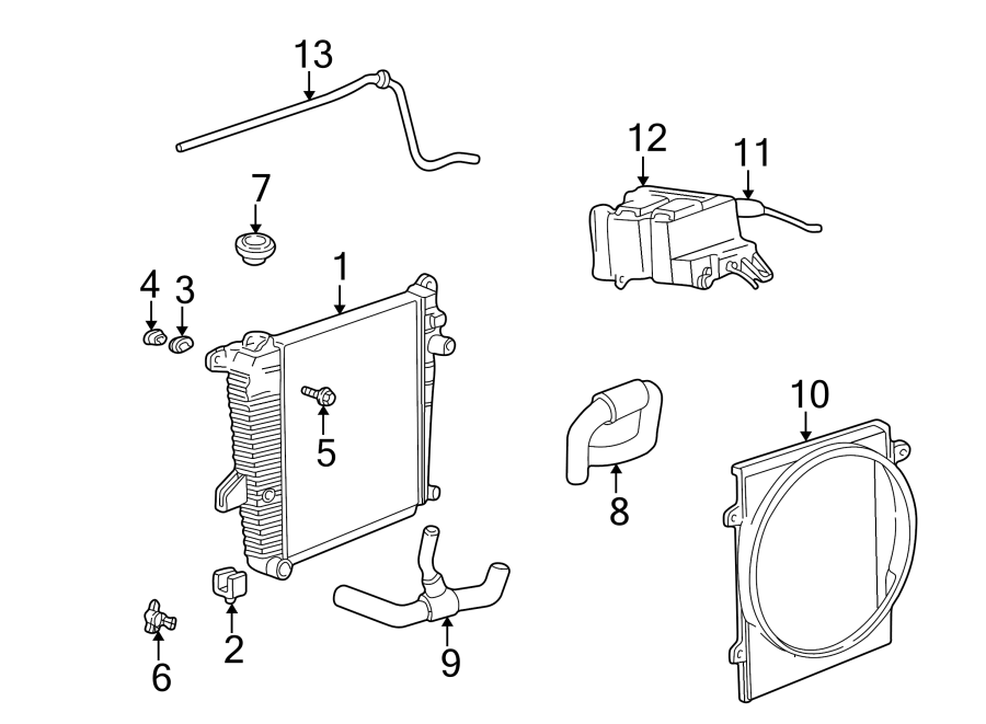 2003 Mazda Engine Cooling Fan Shroud. RADIATOR, Make