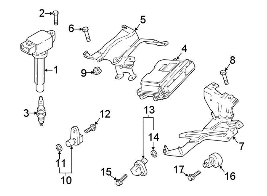 Mazda CX-9 Spark Plug. 2.5 LITER TURBO. Telematics, SYSTEM