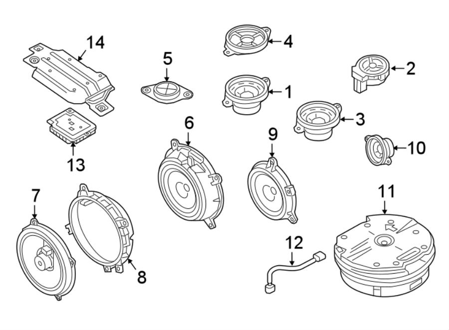 Mazda CX-9 Speaker (Front). SpeakerS, AMPLIFIER, Audio