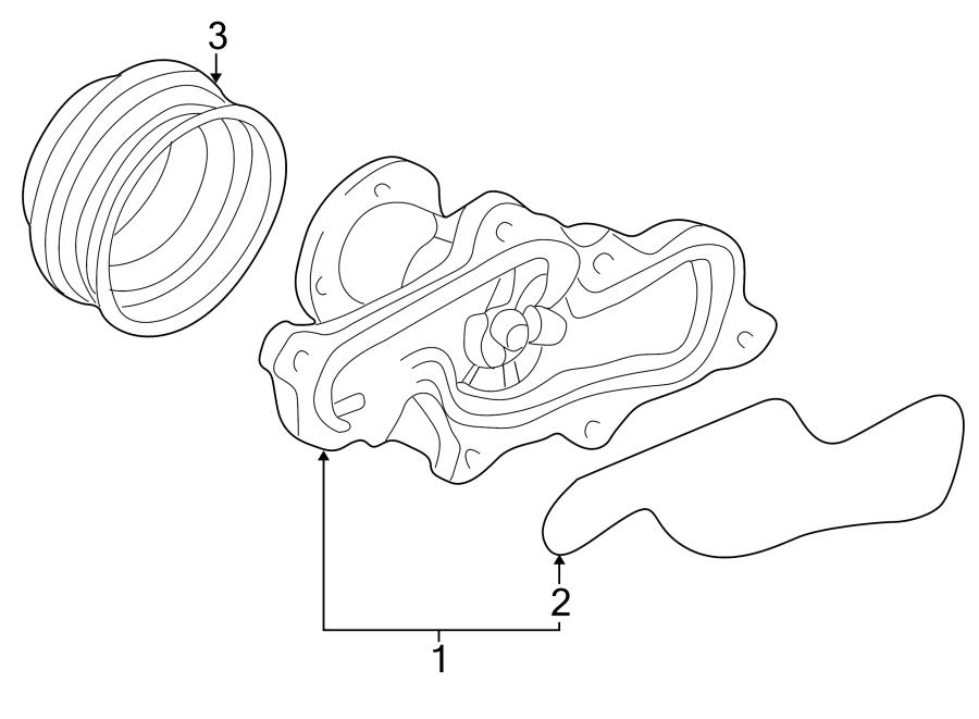 Mazda MX-3 Engine Water Pump Pulley. 2.5 LITER. 6 cylinder