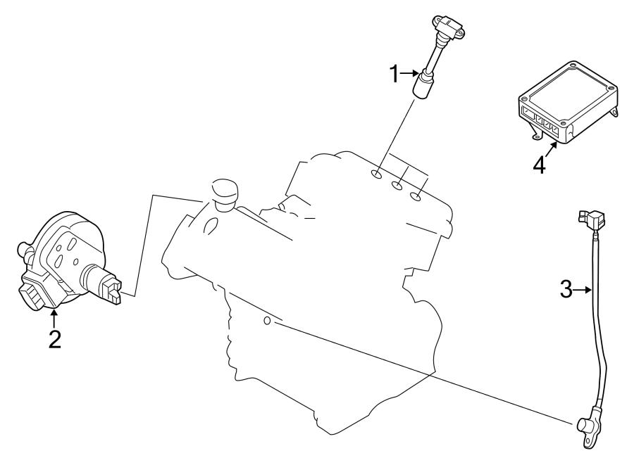 Mazda Millenia Engine Crankshaft Position Sensor. Ignition
