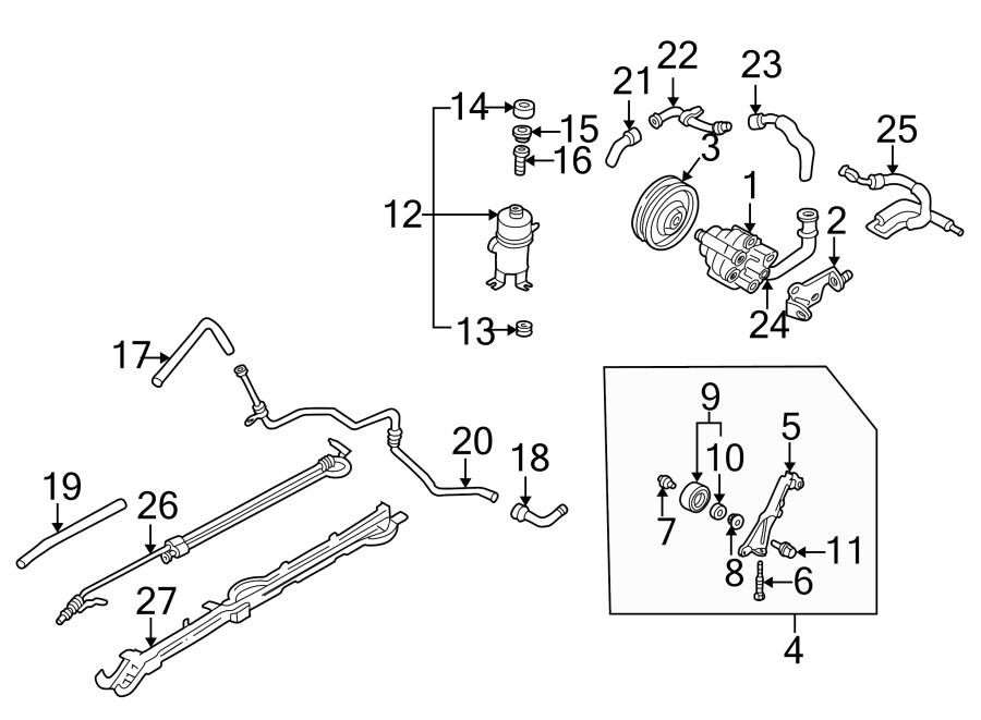 Mazda 3 Power Steering Reservoir Cap. LITER, Pump