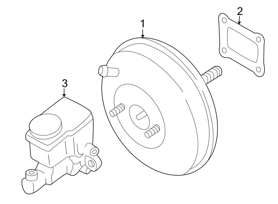 2003 Mazda Brake Master Cylinder. Brake Master Cylinder
