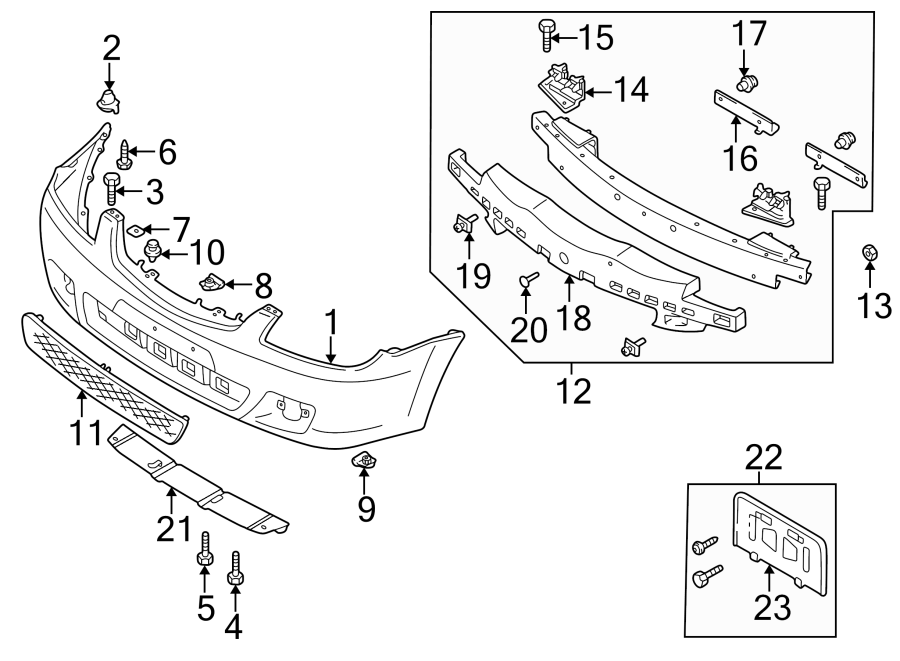 2002 Mazda License Plate Bracket. HATCHBACK, 2002-03