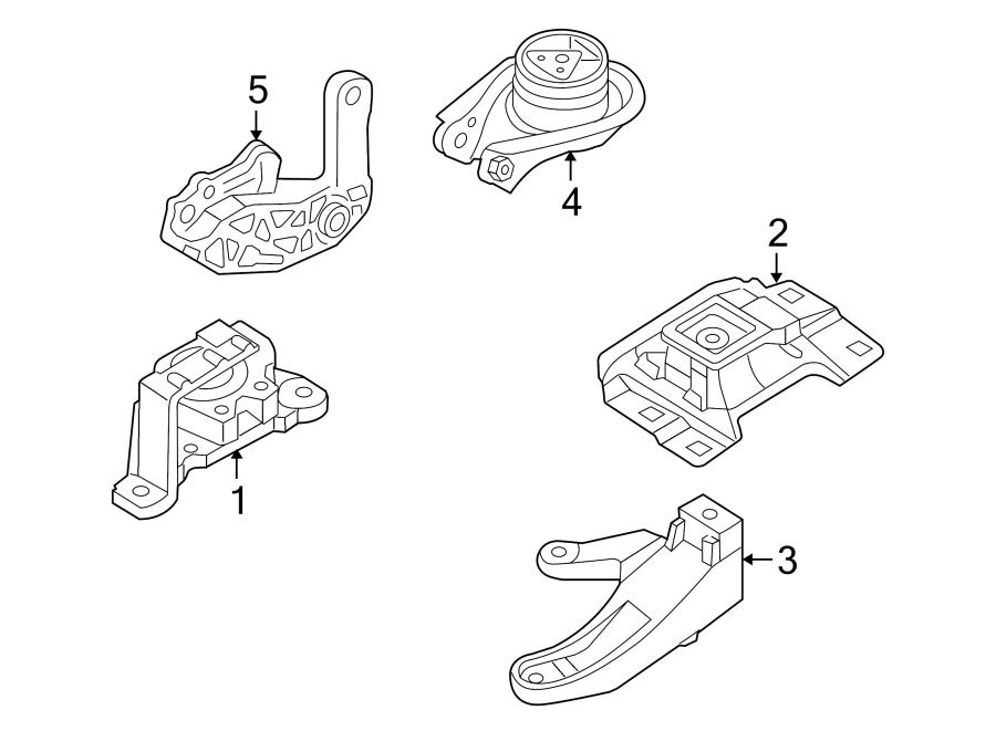 Mazda 3 Engine Mount Bracket. 2.0L, 2.3L W/O TURBO, manual