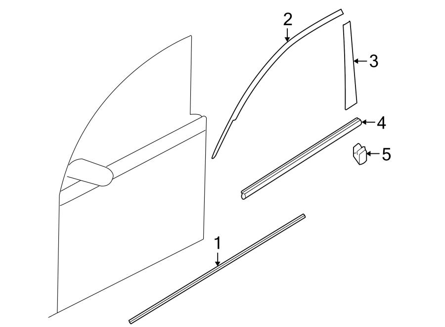 Mazda 3 Door Molding (Right, Lower). W/body color, true