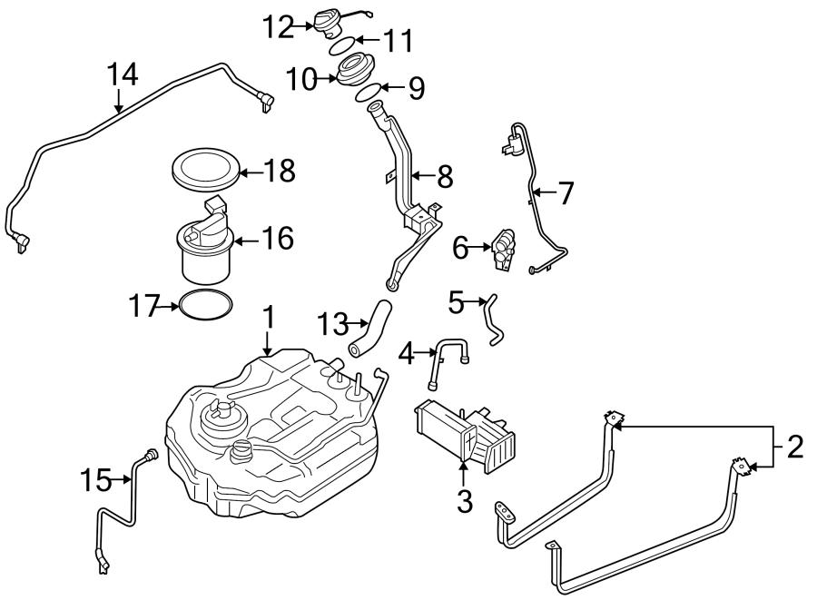Mazda 3 Fuel. Line. Hose. Vapor Canister Filter