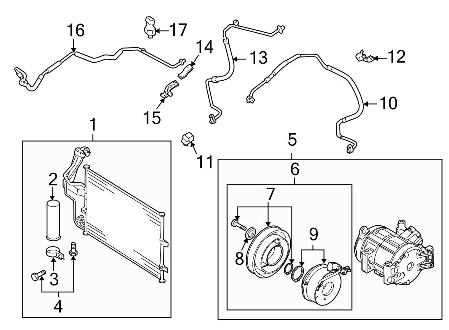 Mazda 3 A/c compressor clutch. Skyactiv, conditioning