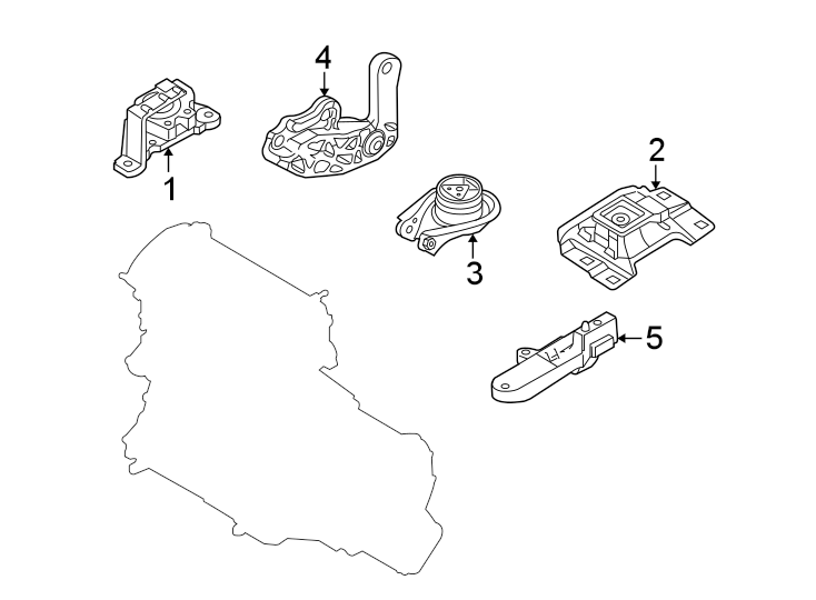 Mazda 3 Engine Mount Bracket (Upper). TRANS, Manual, LITER