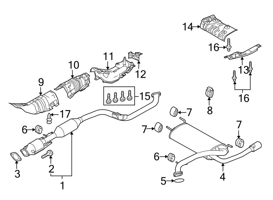 Mazda 3 Exhaust Muffler. 2.5 LITER, 4 door. Mazda3; 2.5L