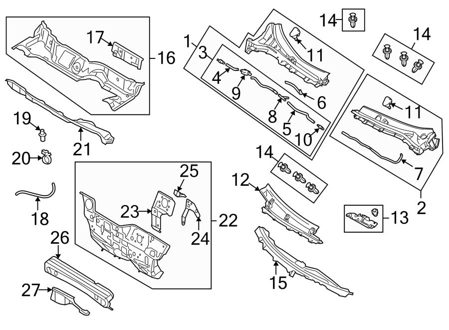 Mazda 3 Windshield Washer Hose Connector. Valve, Piece