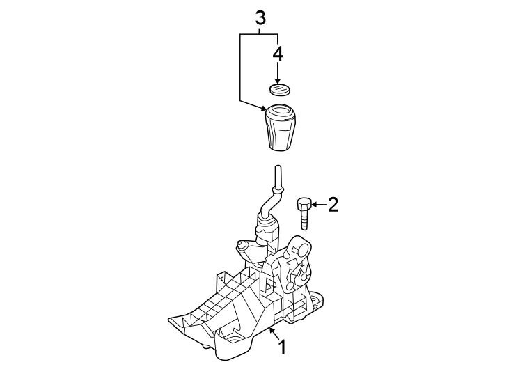 Mazda 3 Manual Transmission Shift Knob. Leather