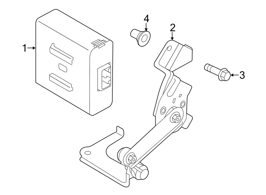 Mazda 3 Headlight Level Sensor (Rear). LEVELING, HEADLAMP