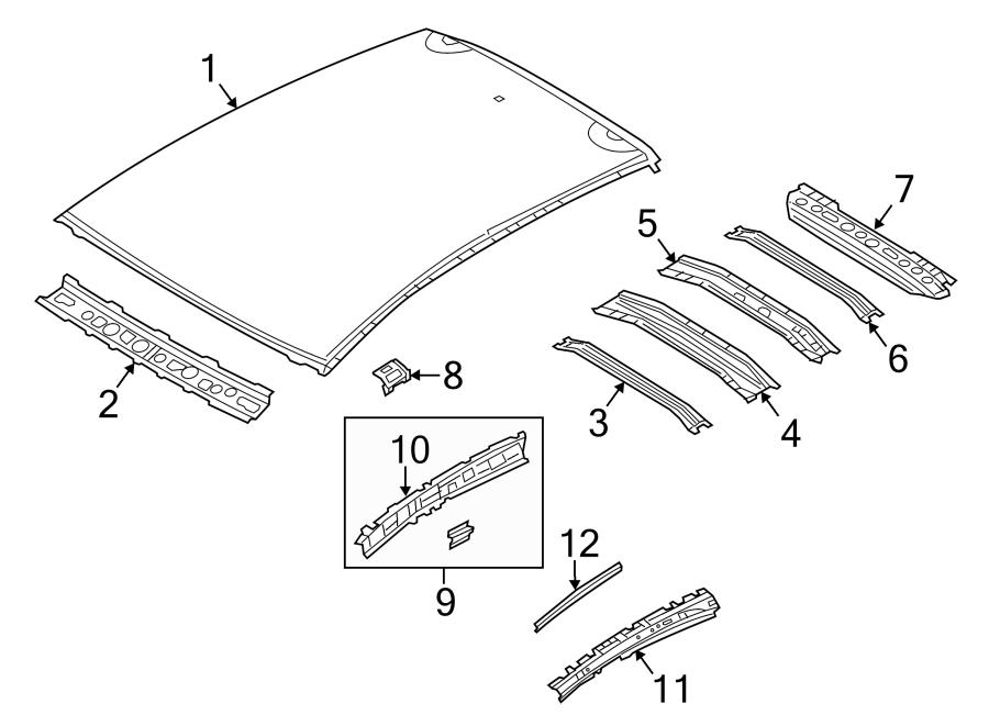 Mazda 3 Roof Panel. HATCHBACK, W/O SUNROOF. COMPONENTS