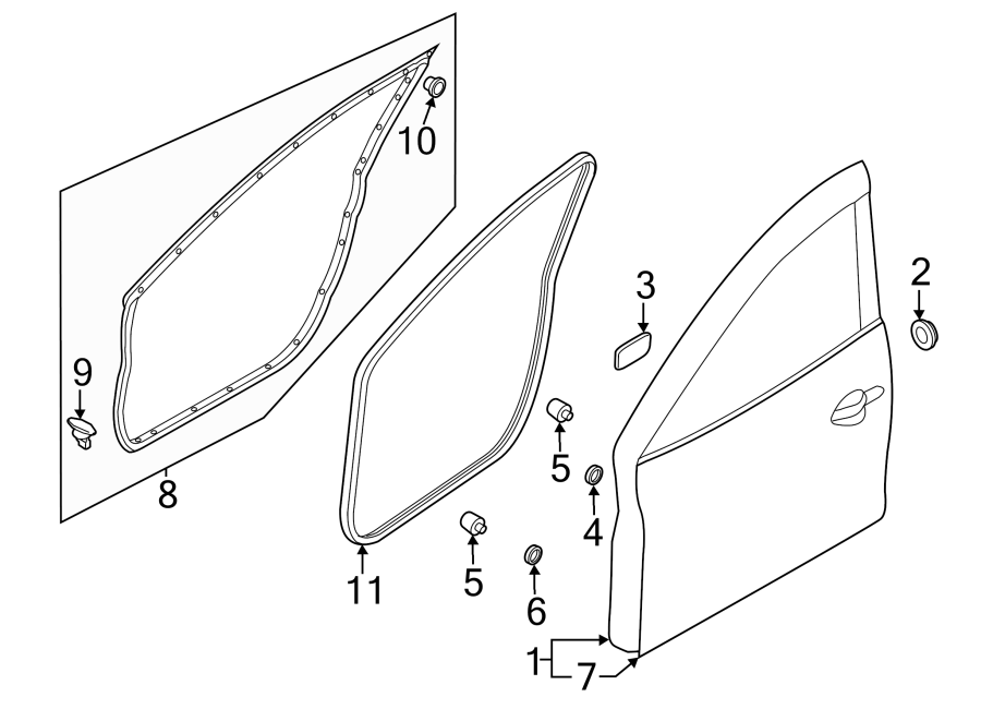 Mazda 3 Door Outer Panel. Left, FRONT, COMPONENTS, Body