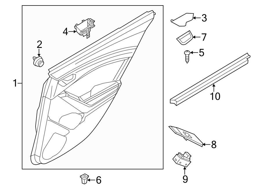 2015 Mazda Panel. Grommet. Trim. Door. Door Grommet