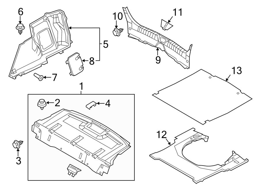 Mazda 3 Package Tray Trim (Rear). SEDAN, Japan built, w