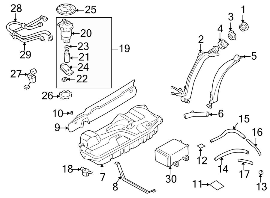 Mazda MPV Fuel Sender and Hanger Assembly. Level, Gauge