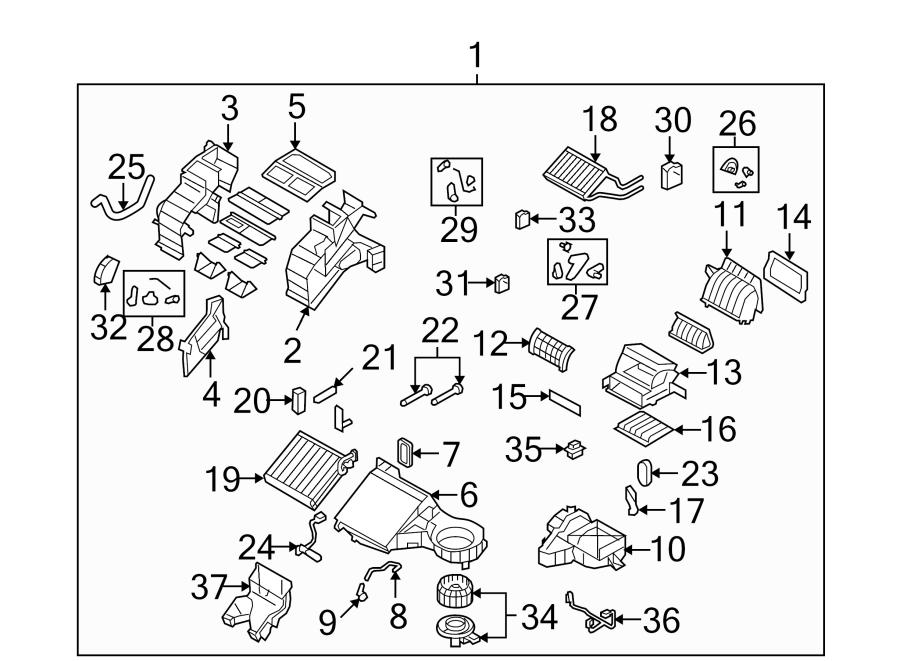 Mazda CX-9 Hvac blower motor resistor. Heater, conditioner