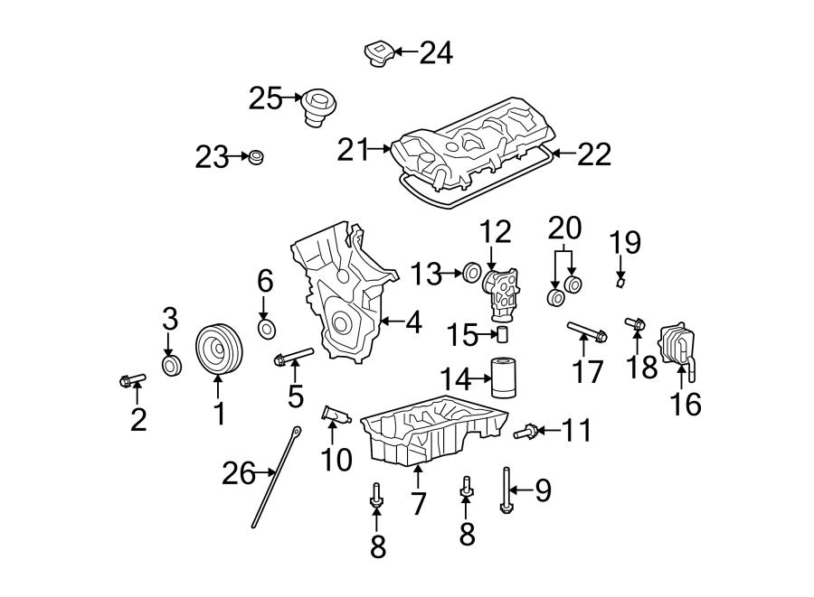 Mazda CX-9 Engine Crankshaft Seal (Front). 3.7 LITER. CX-9