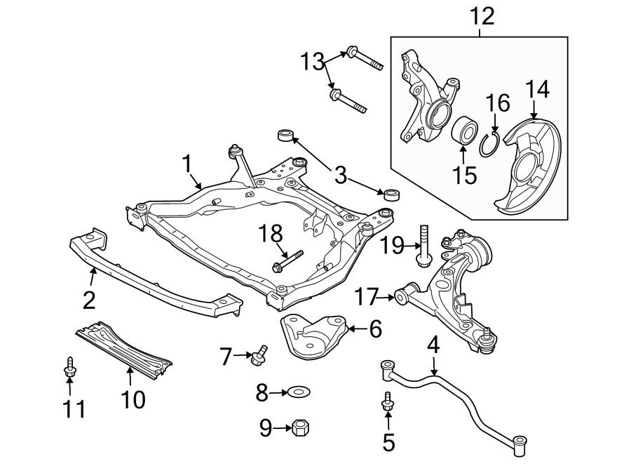 Mazda CX-9 Engine Cradle (Front). Suspension, COMPONENTS