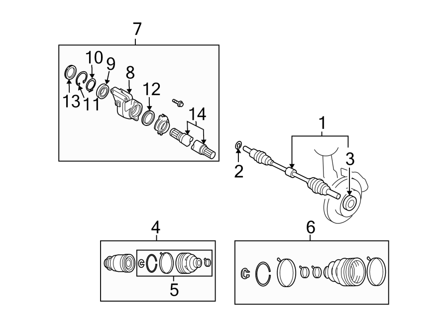 Mazda CX-9 Cv intermediate shaft. Half-shaft. Intermed