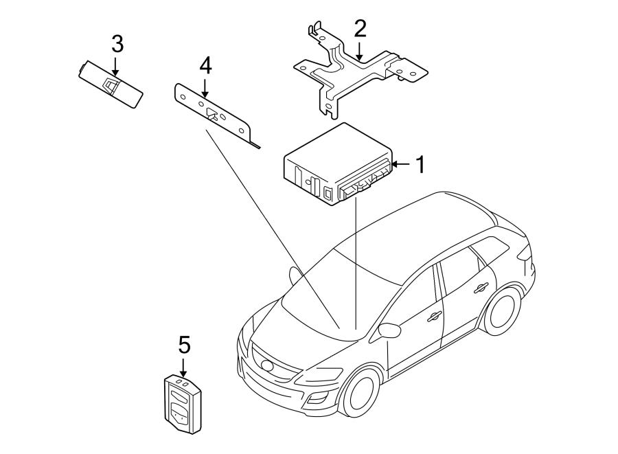 Mazda CX-9 Keyless Entry Transmitter. Alarm, Control