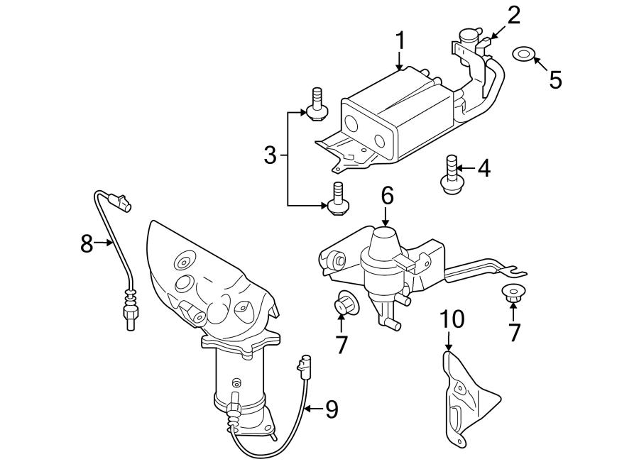 Mazda CX-9 Vapor Canister Purge Solenoid. EMISSION, System